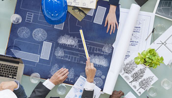 construction management blueprints plans