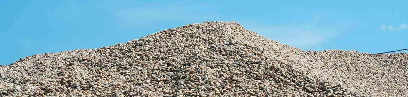 Ernest Martine Incorporated pile of gravel stone